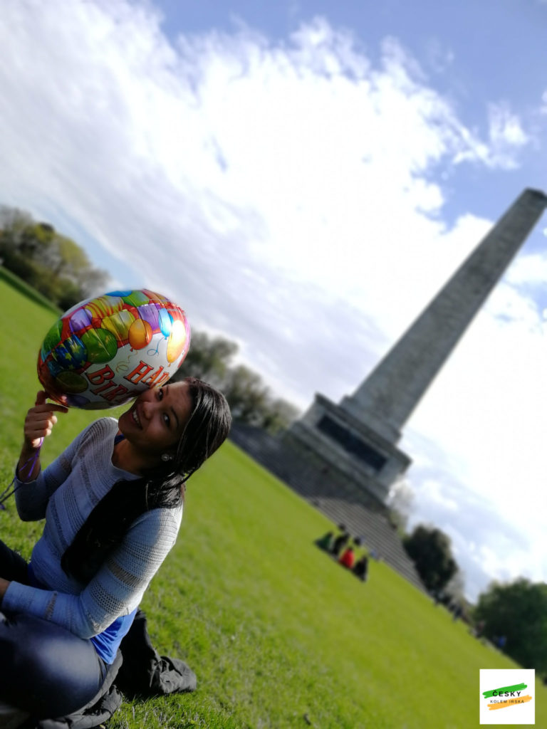 a friend with Wellington Monument