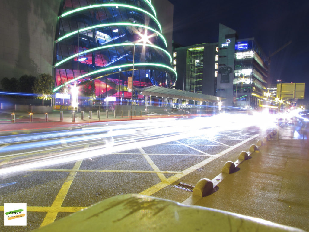 light trailing by Convention Centre, Dublin